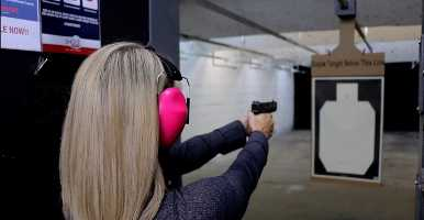 Shooting in an indoor range